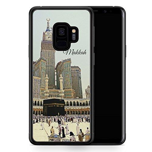 Samsung Galaxy S9 Hülle SILIKON - Panorama Makkah Mekka - Motiv Design Islam Muslimisch Schön - Handyhülle Schutzhülle Cover Case Schale