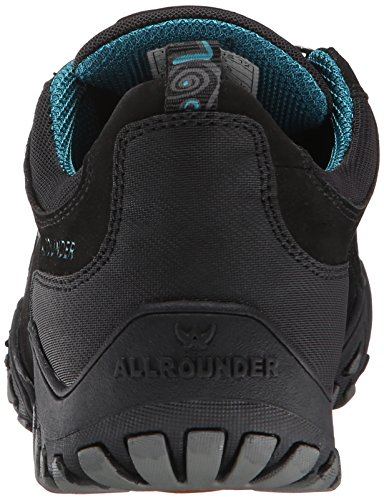 All Rounder Womens Fina-Tex Nubuck Trainers Black