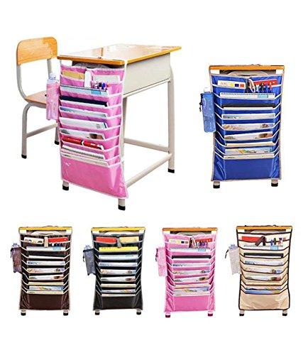 Getko Adjustable Table Desk Side Hanging Books Stationery Organizer Storage Bag (Without...