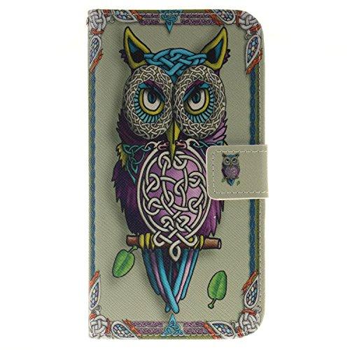 Preisvergleich Produktbild hülle für LG Stylus2 LS775 Hülle,LG G4 Stylus Leder Hülle, PU Leder Magnative Flip Case im Bookstyle Muster Folio Cover PU Lederhülle Tasche Brieftasche mit Kartensteckplätze und Standfunktion für LG G4 Stylus2 LS775 + Staubstecker (3) (11)