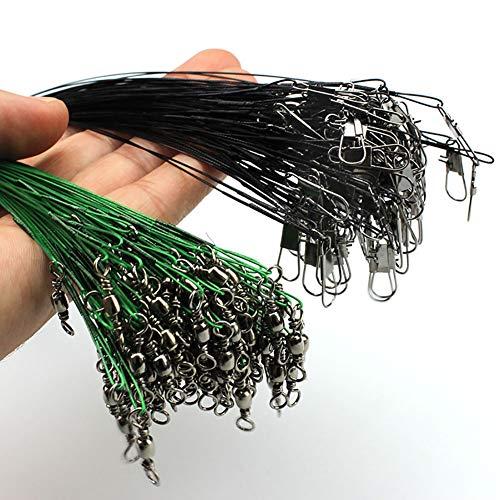 LOOKSR Angelschnur mit Bissschutz, 20 Stück, Grün