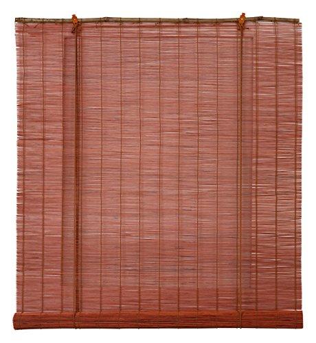 OCRES - Estor Enrollable Bambú Natural Terracota 120X175