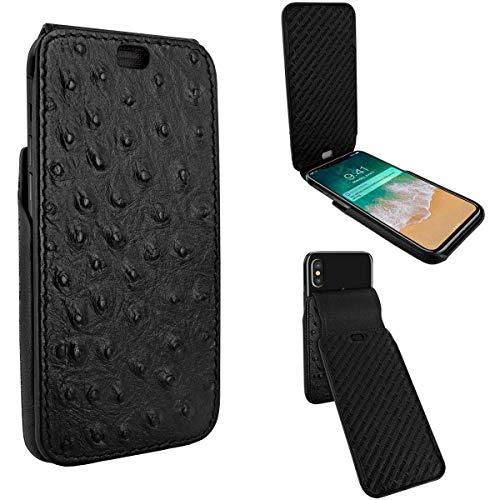 Piel Frama Magnet (Piel Frama iMagnum Schutzhülle für iPhone X Strauß schwarz)