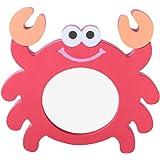 NUOBESTY Kinderbadspeelgoed Eva rode krabben cartoon spiegel bad speelgoed water speelgoed voor kinderen kinderen kinderen ca