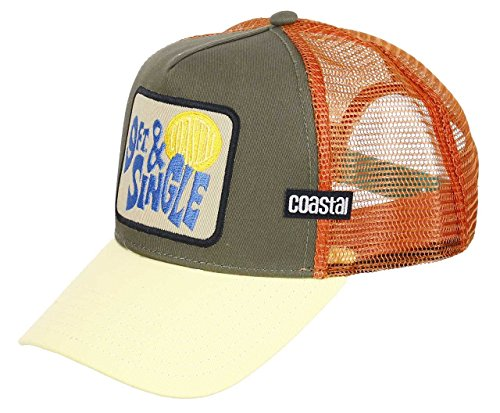 COASTAL - 9FT & Single (olive) - Trucker Cap Meshcap Kappe Mütze Cappy Caps (Single 9')