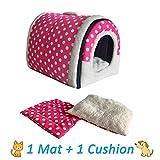 ANPI 2 en 1 Casa y Sofá para Mascotas, Lavable a Máquina Casa Cama de...
