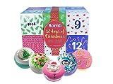 Bomb Cosmetics Twelve days of Xmas Bath Blaster calendario dell' avvento con confezione regalo, 160g, confezione da 12
