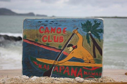 Canoa Outrigger Canoe Vintage, Club, Kalapana Hawaii-16