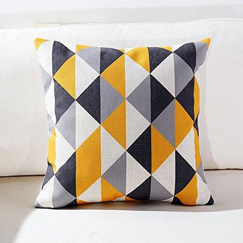 2-er Set Modern Einfach Dekorativ Kissenhuelle Baumwolle Leinen Platz Kissenbezug Kissen Case Kissenbezüge für Sofa Home Decor 18 * 18 Zoll