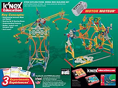 K'NEX Education STEM Explorations Swing Ride Building Set for Ages 8+ Engineering Education Toy, 486 Pieces