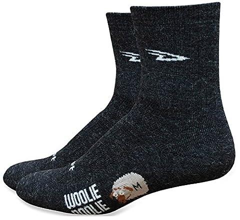 Defeet Woolie Boolie 2 Sock - Charcoal, 6in, Medium