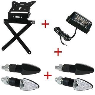 Kennzeichenhalter Motorrad Universal + 4Blinker + Kennzeichenbeleuchtung Kit zugelassen Lampa Gilera SMT 502004–04