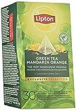 Lipton Selección Exclusiva Té Verde Mandarina y Naranja,  6 estuches con 30 sobres