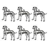 FENICAL 20pcs Argento Antico Charms Forma di Cane Creazione di Gioielli Pendenti con ciondoli per Gioielli Fai da Te Accessori