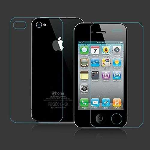 Cables Kart Tempered Glass Screen Scratch Protector Guard for Apple Iphone 4 / 4 s Front and Back  available at amazon for Rs.125