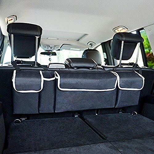 Preisvergleich Produktbild 2-in-1-Kofferrraum- und Rücksitz-Organizer, Multifunktionale Auto-Aufbewahrungstasche für Kofferaum; zum Unterbringen von Kinder-Spielzeug; zum Aufhängen am Rücksitz
