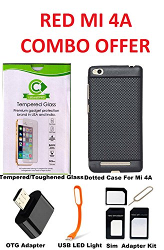 premium selection d749d 1b796 Cellwallproâ® Red Mi 4A Back Case Cover With Mi4A Tempered Gass Screen  Protector Back Case Cover With Tempared Glass Combo Kit For Redmi 4A