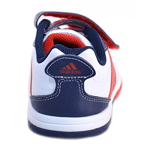 Adidas - Adidas Snice 3 CF I Scarpe Bambino Bianche Pelle Strappi M21981 Blanc