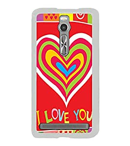 Bright Red Love Wallpaper 2D Hard Polycarbonate Designer Back Case Cover for Asus Zenfone 2 ZE551ML