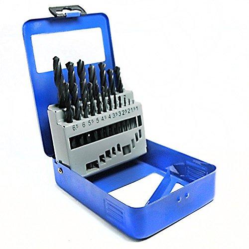 S&R Metallbohrer Set 1,0 - 10mm, 118°, 19 Stk, DIN 338, HSS-R Stahl, Metallbox