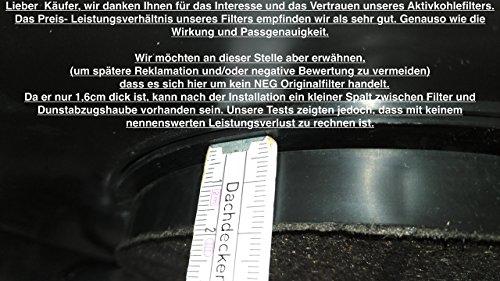 Aktivkohlefilter für dunstabzugshaube neg15 neg15 und