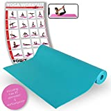 Tapis de yoga ANTI-DÉRAPANT / Fitness – Gymnastique – Pilates / 175 x 60 x 0,4...