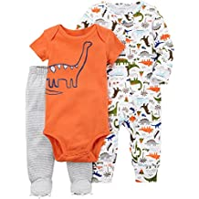Carters Juego de dormir y dinosaurio de 3 piezas para bebé-niños