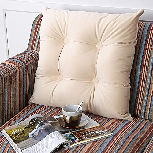 Sitzkissen Hochwertige Quadratische Baumwolle Sessel FüR BüRostuhl Boden Sofa Tatami-Polster Sitzkissen Outdoo 55 * 55 cm - Burgund-polyester-gewebe