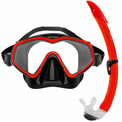 #DoYourSwimming Tauchermaske »DiveMaster« Schwimm-Maske/Swim Mask/Scuba Mask/Schnorchelmaske/Die perfekte Tauchmaske für das Schorcheln/Schnorchelset für Erwachsene und Jugendliche/rot