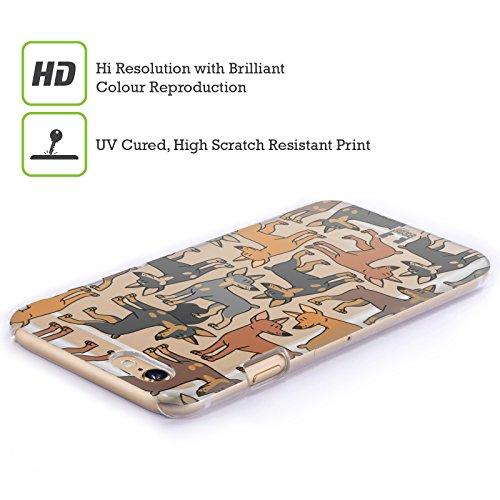 Head Case Designs Airedale Terrier Hunderasse Muster 4 Ruckseite Hülle für Apple iPhone 5 / 5s / SE Kleines Pinscher