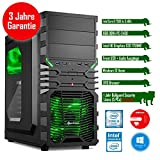 Rhino Rapid i7563 mit Windows 10 I Intel Core i5 7500 4x 3.4 GHz I 8 GB DDR4 I Intel HD Graphics 630 I MSI I 120 GB SSD + 1000 GB SATA I DVD-Brenner I Xilence Cooler & Netzteil I USB 3.0 | Gigabit-LAN | 7.1-Kanal-Sound I Bullguard Internet Security Lizenz 1 Jahr / 5 PCs I 36 Monate Garantie