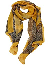 6f23066c9c93 Keepwin Foulard en soie antique, Femmes Fashion Lady Long foulard en  mousseline de soie douce