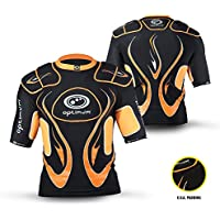 OPTIMUM Inferno - Protecciones de hombros para rugby (hombreras), color negro/naranja (black/orange), talla Large