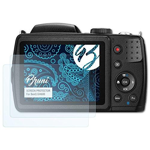 �r BenQ GH600 Folie - 2 x glasklare Displayschutzfolie (Benq Digitalkamera)