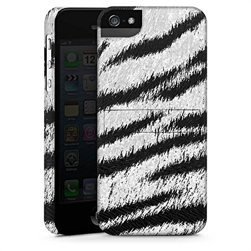 Apple iPhone X Silikon Hülle Case Schutzhülle Weißes Tiger Fell Look Muster White Animal Print Premium Case StandUp