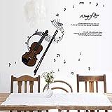 Gleecare Wandaufkleber Noten Violine Kinder Kindergarten Musik Klassenzimmer Klavierzimmer Wand Aufkleber