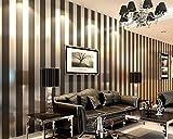 Papier peint moderne minimaliste rayures verticales noires et blanches papier peint intissé salon TV fond mur chambre bureau 0.53x10m-gris foncé