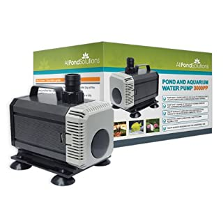 All Pond Solutions Submersible Aquarium Water Pump, 3000 Litre