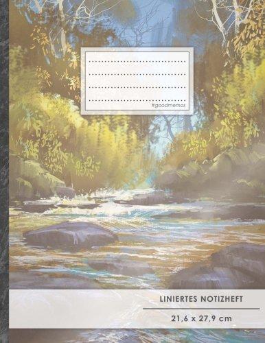 Liniertes Notizbuch • A4-Format, 100+ Seiten, Soft Cover, Register, Mit Rand,