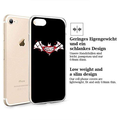 "finoo | iPhone 6 und 6S Weiche flexible lizensierte Silikon-Handy-Hülle | Transparente TPU Cover Schale mit ""Batman"" Motiv | Tasche Case mit Ultra Slim Rundum-schutz | Batman Comic Batman joker logo"