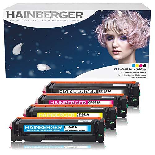 Hainberger   Juego 4 tóneres compatibles HP CF540A