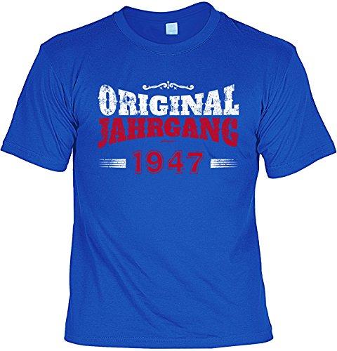 T-Shirt zum 70. Geburtstag Original Jahrgang 1947 Geschenk zum 70 Geburtstag 70 Jahre Geburtstagsgeschenk 70-jähriger Royalblau