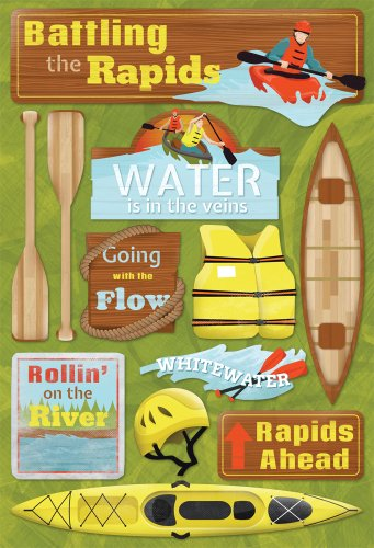 Unbekannt Karen Foster 11568 Design Scrapbooking Stickerbogen säure- und ligninfrei Battling The Rapids