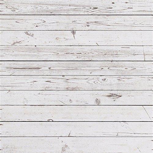 YongFoto 3x3m Foto Hintergrund Holzoptic Altes Verwittertes Weißes Hölzernes Rustikales Beschaffenheits Holz Brett Fotografie Hintergrund Photo Booth Baby Party Banner Kinder Fotostudio Requisiten