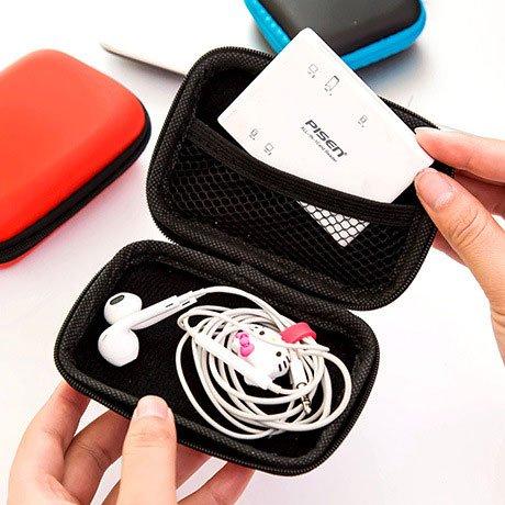 DaDago Kopfhörerkabel Handy Ladegerät Daten-Handy-Box Headset Headset Storage Bag Organizer - Gelbes S
