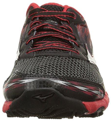 Mizuno Herren, , wave hayate 2, mehrfarbig (black/black/shin red) mehrfarbig (Black/Black/Shin Red)