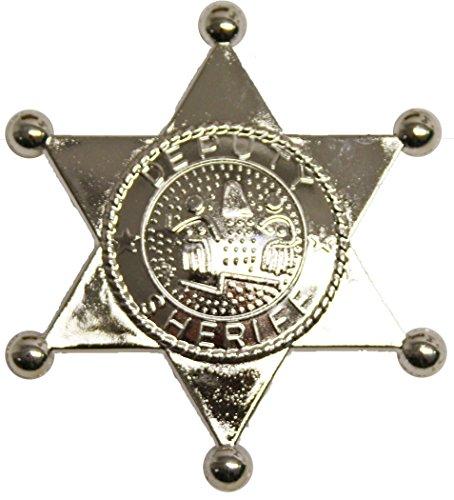 Preisvergleich Produktbild Sheriffstern in silber für den Karneval oder Fasching