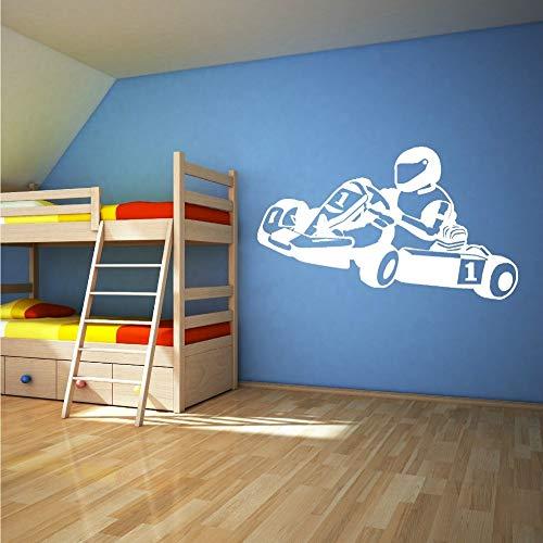 Geiqianjiumai Racing Vinyl Wandaufkleber Kinderzimmer Dekoration Vinyl Wandkunst Poster Aufkleber...