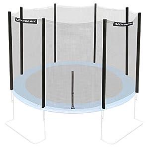 Ultrasport Trampolin-/Sicherheitsnetz für Gartentrampoline, kompatibel mit blauem Jumper Modell Ø 251-366 cm, Trampolin-Zubehör, Ersatznetz, mit Reißverschluss, UV-beständig, Netzhöhe ca. 170 cm