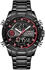 Naviforce NF9146S mens Watch, Analog and Stainless Steel - NF9146S-BBR